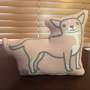Pink Chihuahua Decorative Pillow by Aaron Stewart